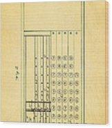 Felt Adding Machine Patent Art 1887 Wood Print