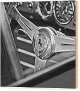 Ferrari Steering Wheel Wood Print by Jill Reger