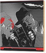 Film Homage Joe Pesci The Public Eye 1992 Weegee Screen Capture Color Added 2011 Wood Print