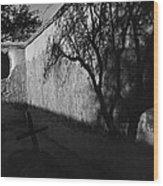 Film Noir Kim Novak Vertigo 1958 Graveyard Tumacacori Mission Tumacacori Arizona 1979-2008 Wood Print