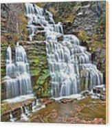 Finger Lakes Waterfall Wood Print