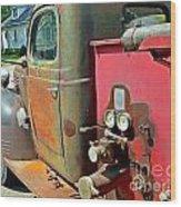 Fire Truck Wood Print