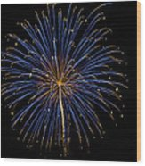 Fireworks Bursts Colors And Shapes Wood Print