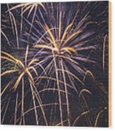 Fireworks Celebration  Wood Print by Garry Gay