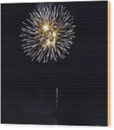 Fireworks Shell Burst Over The St Petersburg Pier Wood Print