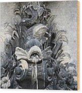 Fish Fountain Wood Print