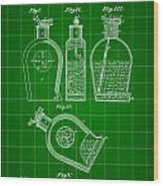 Flask Patent 1888 - Green Wood Print