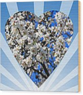Floral Heart Wood Print