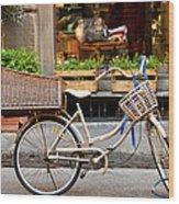 Florence Bicycle  Wood Print