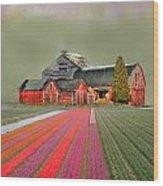 Flower Field Series Wood Print
