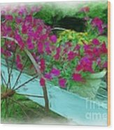 Flower Pot 2 Wood Print