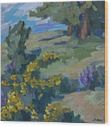 Flowering Meadow Wood Print