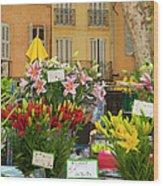 Flowers At Market Wood Print