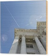 Fly Over Capital Wood Print