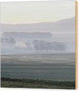 Foggy Sunrise... Wood Print
