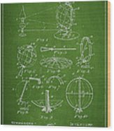 Folding School Globe Patent Drawing From 1887 Wood Print by Aged Pixel