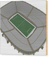 Football Soccer Stadium Wood Print