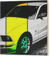 Ford Mustang Gt Wood Print
