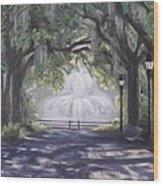 Forsythe Park Wood Print