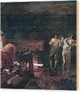 Foundry, 18th Century Wood Print