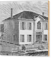 Freedmen School, 1867 Wood Print