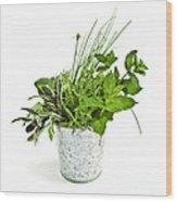 Fresh Herbs Wood Print by Elena Elisseeva