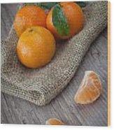 Fresh Tangerine Wood Print by Sabino Parente