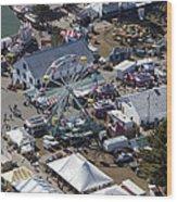 Fryeburg Fair, Maine Me Wood Print by Dave Cleaveland