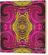 Fuchsia Sensation Abstract Wood Print