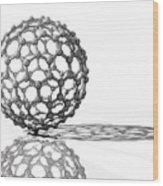 Fullerene Molecule Wood Print