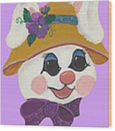 Funny Bunny Wood Print