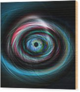 Futuristic Light Eye Wood Print