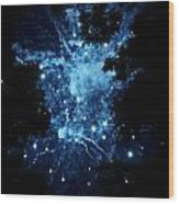 Galactic Fireworks Wood Print