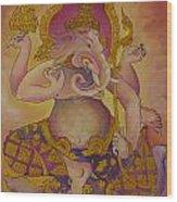 Ganesha God Of Hindu Wood Print