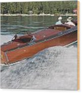 Gar Wood Runabout Wood Print
