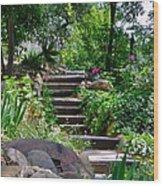Garden Steps Wood Print