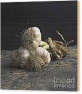 Garlic Wood Print by Bernard Jaubert