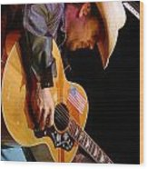 Gary Allan Wood Print by Don Olea