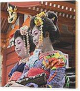 Geishas Senso Ji Wood Print