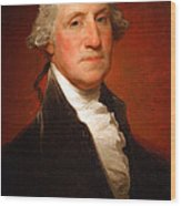 George Washington By Gilbert Stuart -- 2 Wood Print