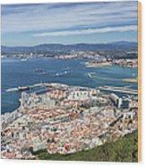 Gibraltar City And Bay Wood Print