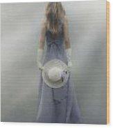 Girl With Sun Hat Wood Print by Joana Kruse
