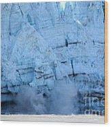 Glacier Collapse Wood Print