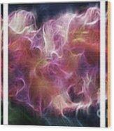 Gladiola Nebula Triptych Wood Print