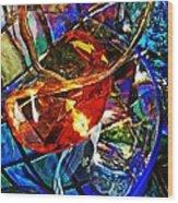 Glass Abstract 691 Wood Print
