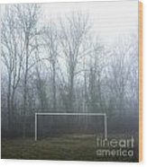 Goal Wood Print by Bernard Jaubert