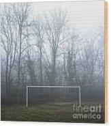 Goal Wood Print by Bernard Jaubert