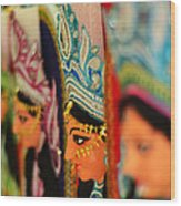 Goddess Durga Wood Print by Atin Saha