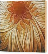 Golden Glory Wood Print