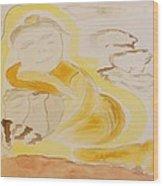 Golden Maiden Wood Print
